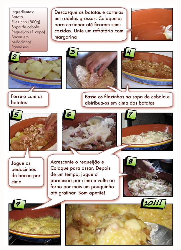 Como fazer Filezinho de Frango com Batatas ao Forno
