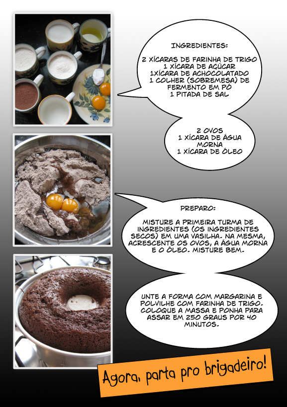 Como fazer bolo de chocolate rápido (e com água!)