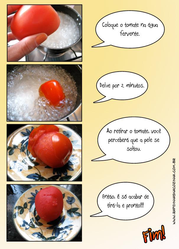 Como tirar a pele do tomate de maneira fácil e segura