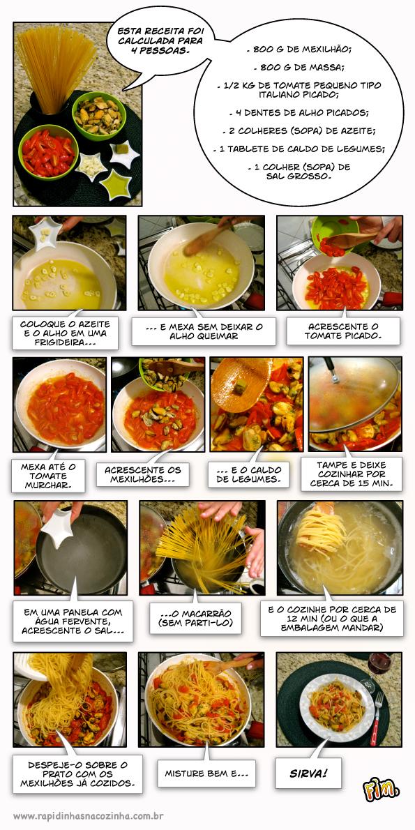 Como fazer Espaguete com Mexilhões