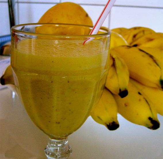 Suco de maracujá com banana