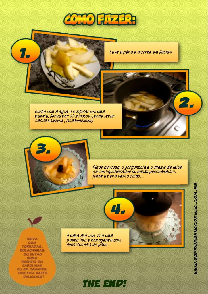 Como fazer pasta de gorgonzola com pêra