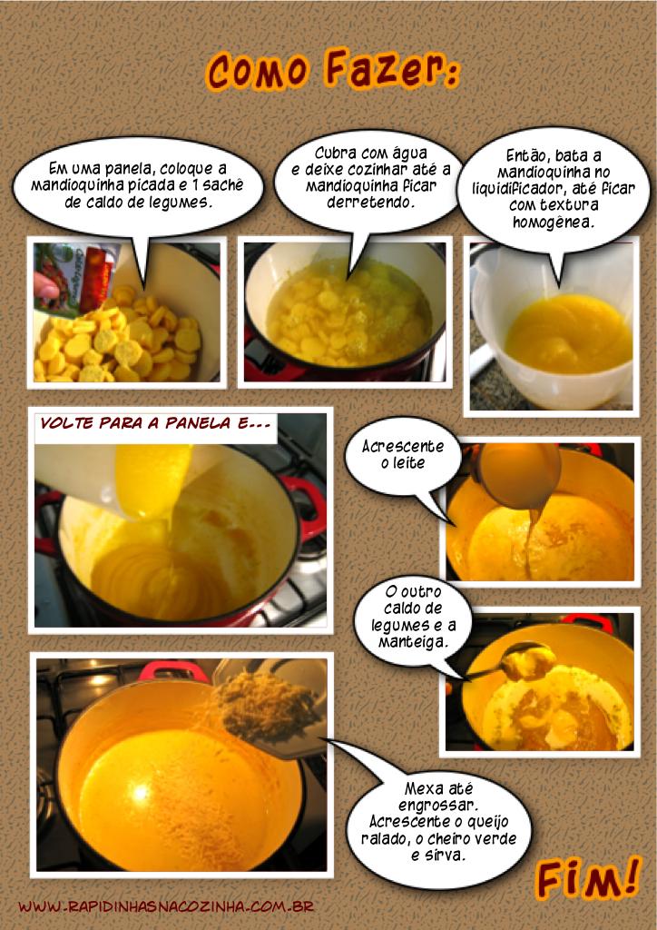 Como fazer Creme de mandioquinha