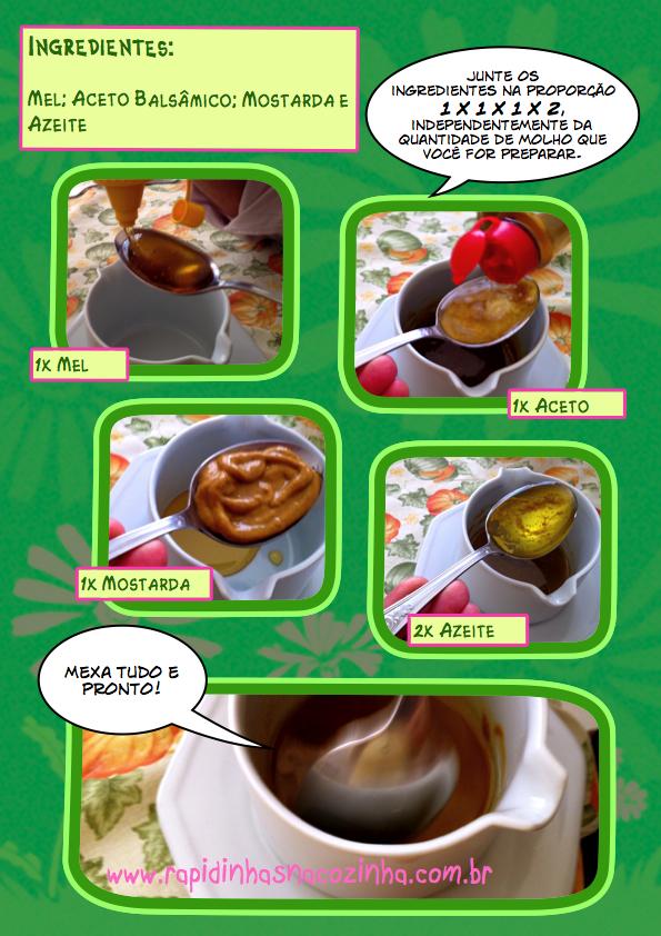 como fazer molho de salada à base de mel e mostarda