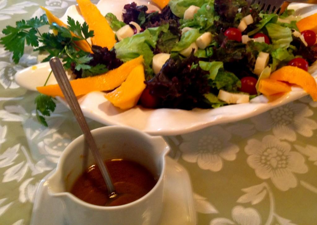 molho para salada à base de mel e mostarda