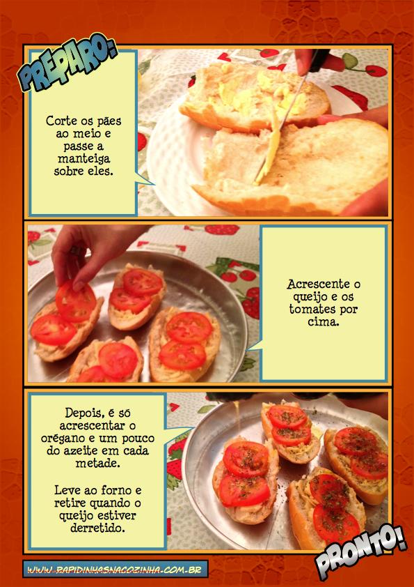 Pão-pizza Preparo