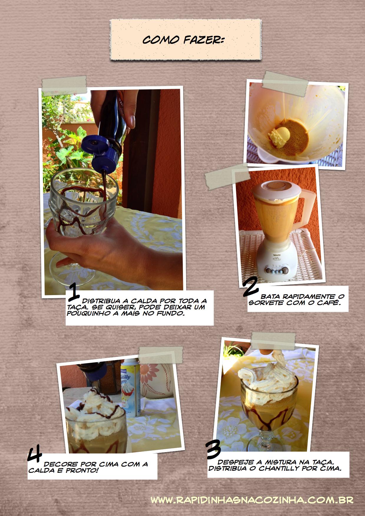 Frozen de Café - preparo